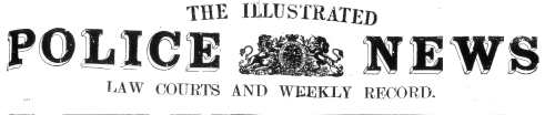 Illustrated Police News masthead